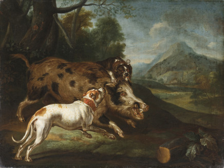 Philipp Ferdinand de Hamilton, Pair of hunting scenes, 17th Century