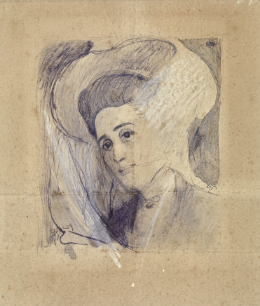 Giacomo Balla, Study for the portrait of a lady, 1906-1908