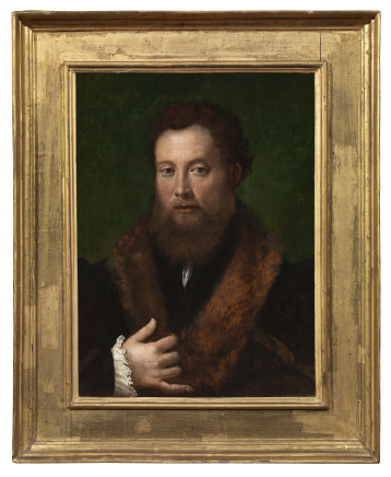 Innocenzo di Piero Francucci da Imola, Portrait of a man wearing fur, 1530 circa