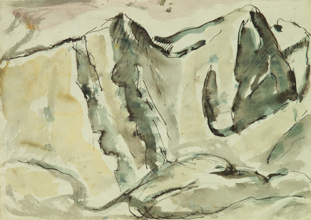 Mario Sironi, Mountains, 1947