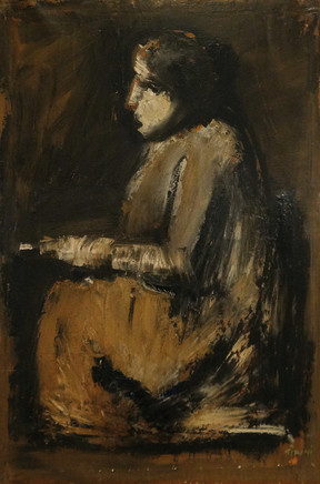 Mario Sironi, Seated figure reading, ca. 1930-35