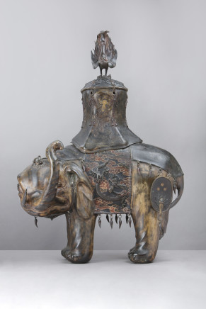 A bronze figure of an elephant, Japan, Late 18th/Early 19th Century