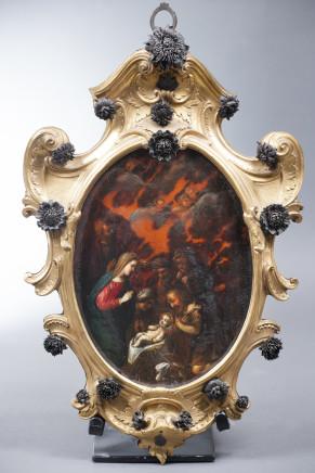 Nativity painted on tortoiseshell , Naples, 18th Century