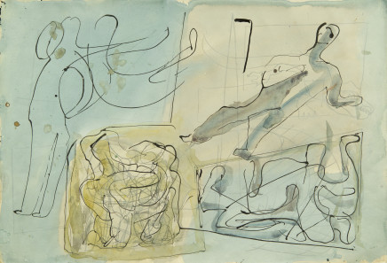 Mario Sironi, Composition, ca. 1950