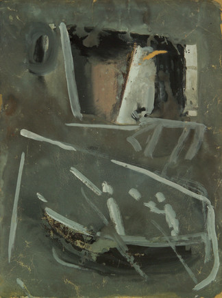 Mario Sironi, Composition with boat, 1958 circa