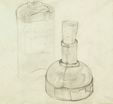 Mario Sironi, Ink bottles, ca. 1920