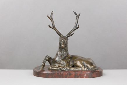 Bronze Figure of a Deer, France, 18 century