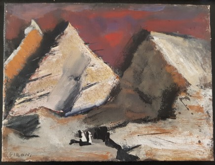 Mario Sironi, Mountains, 1952 circa