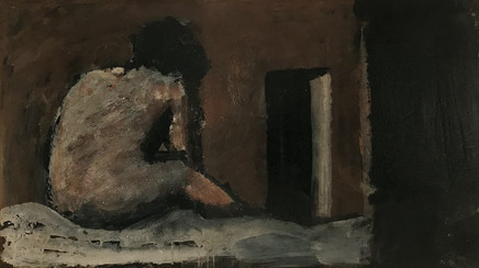Mario Sironi, Composition with figure, ca. 1945