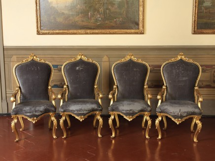 An Exceptional Set of eight Armchairs, Bologna, 1760 circa