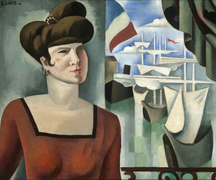 André Lhote, The courtesan before the port, 1919