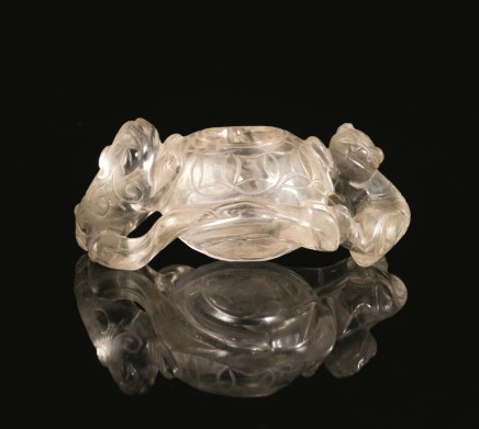 China, Rock Crystal Brush Washer, Qing Dynasty, 19th Century