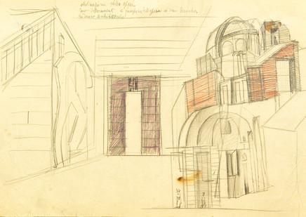Mario Sironi, Architecture, ca, 1932