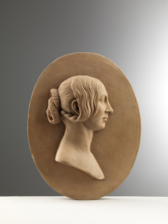 William Theed The Younger, Relief With the Profile of a Young Woman, Rome, 1846