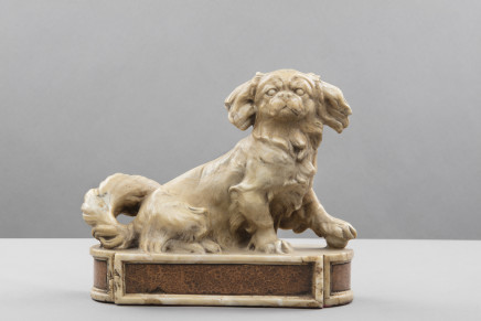 Marble figure of a Pekingese Dog, England, 18th Century