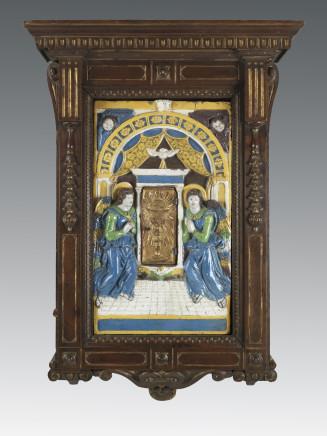 Giovanni della Robbia, Eucharistic tabernacle with adoring angels, Florence, ca. 1525