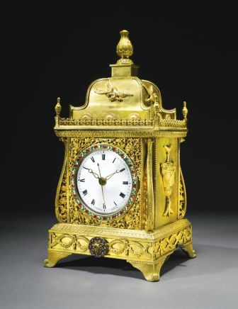 An exceptional Chinese ormolu paste-set clock, China, Qianlong, Guangzhou workshops