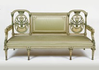 A lacquered Sofa and Two Armchairs, Paris, 18th Century