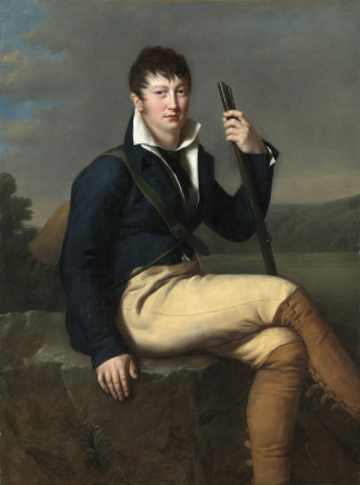 Julie Volpeliere, Portrait of Antoine De Bacheville in hunting attire, 1808-1825