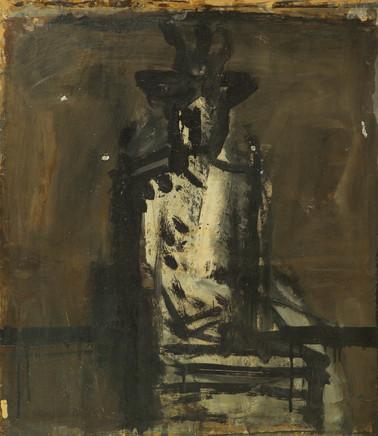Mario Sironi, Indoor figure with hat, 1936