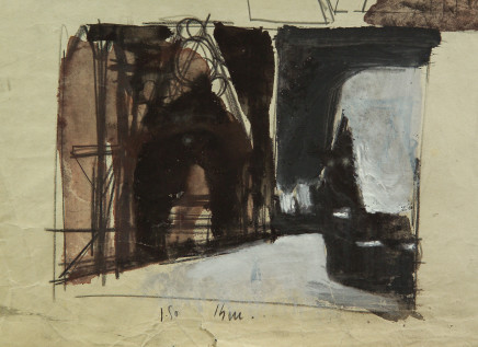 Mario Sironi, Study for the set design of 'Faust', 1942 circa