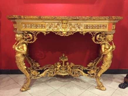 Important giltwood console, Florence, half 19th Century