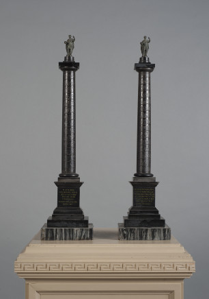 Workshop of Benedetto Boschetti, A pair of black marble columns from Trajan's Column in Rome, Mid-19th Century