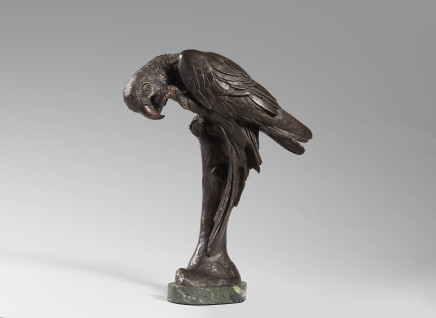Sirio Tofanari, Bronze sculpture of a Parrot