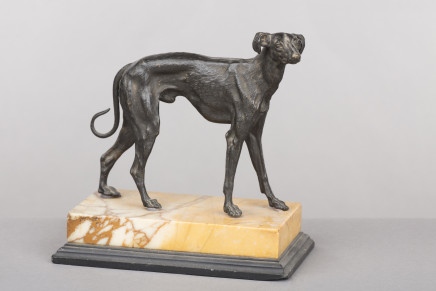 A Bronze Figure of a Dog, Rome, 1830