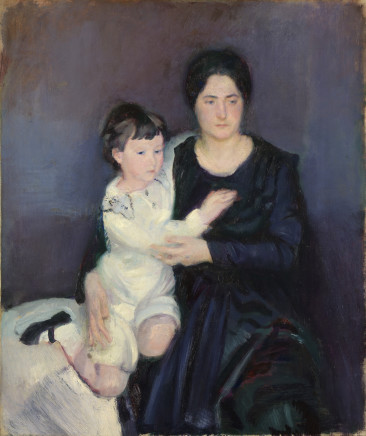 Armando Spadini, Portrait of Princess Brancaccio and her son, 1916
