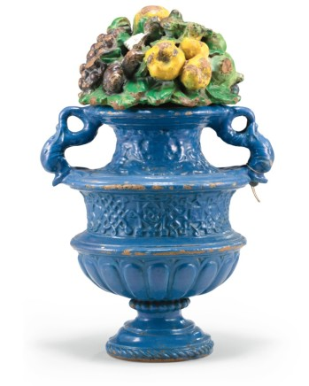 VASE WITH LID OF FRUITS AND FLOWERS, Circa 1510/1520