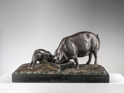 Bronze group depicting pigs, Italy, early 20th century