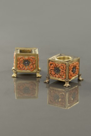 Inkwell and sander, Late 17th Century