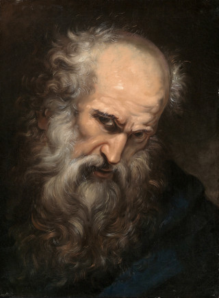 Giovanni Battista Gaulli, il Baciccio, Head of an Apostle, 1685 circa