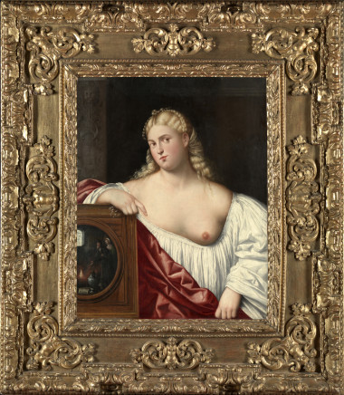 Bernardino Licinio, Portrait of a courtesan with mirror (Allegory of Vanity), 1535-40