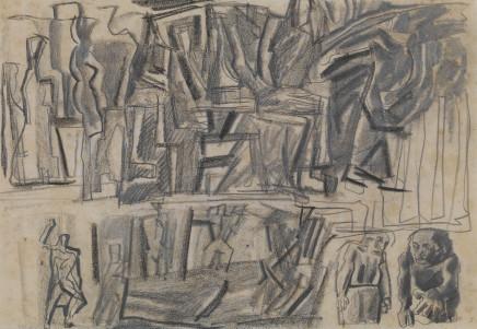 Mario Sironi, Idea for a mural, 1943 (?)