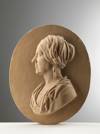 William Theed The Younger, Relief With the Profile of a Mature Woman, Rome, 1843