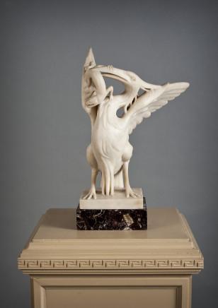 A Sculpture of a Fantastic Bird and a Snake, Neoclassic period, 1800 circa