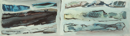 Mario Sironi, Two landscapes, 1950 circa