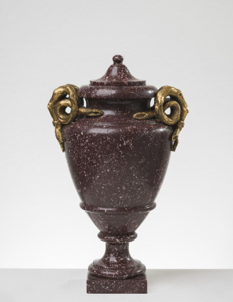 An ormolu-mounted porphyry covered-vase, Rome, 1790-1810