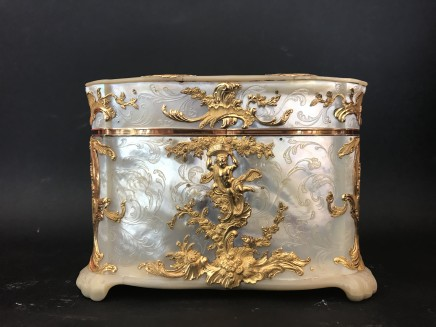 Germany, Small mother of pearl gold-mounted casket, 18th Century