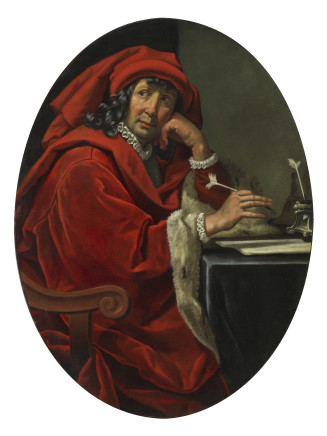 Jacopo Vignali, Portrait of a Fifteenth-century Scholar (Lorenzo the Magnificent?), 1640 circa
