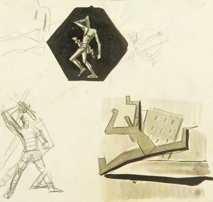 Mario Sironi, Studies for illustrations, ca. 1924-25