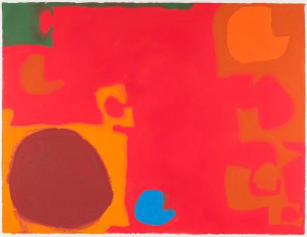 Patrick Heron, Yellows and Browns Interlocking with Soft Cadmium (Blue Flash), 1968