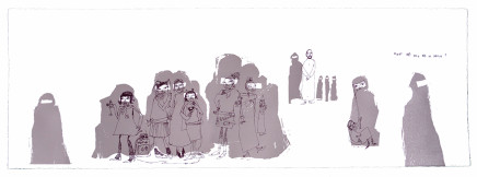 Chitra Merchant, What do you do in yours? Burqa I, 2003