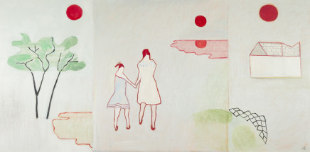 Anne Rothenstein, Two Girls, Three Moons , 2019