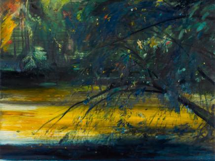 Calum McClure, Tree and Yellow Pond, 2019