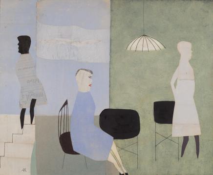 Anne Rothenstein, Three Blue Figures, 2014