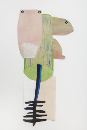 Sarah Faux, Blueish black 蓝黑色, 2018