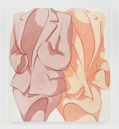 Ivy Haldeman, Two Suits, Wrist Bent, Cuff to Pocket (Mauve, Peach) 两件西装,曲腕,袖口入袋(淡紫,桃色), 2019